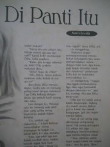 Cerpen pertama dimuat majalah, masih Aliyah.